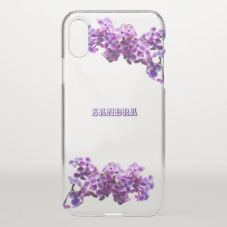 Painted Lilacs Personalized iPhone X Case