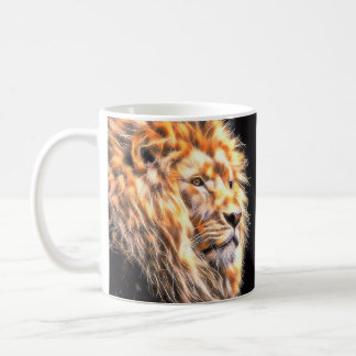 Painted Lion Portrait, Print, Gift Mug