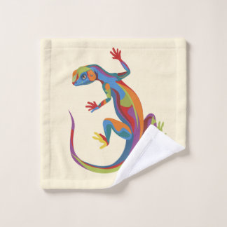 Painted Lizard Wash Cloth