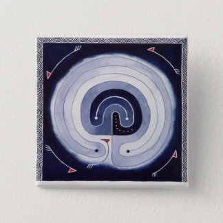 Painted Maze 2 Inch Square Button