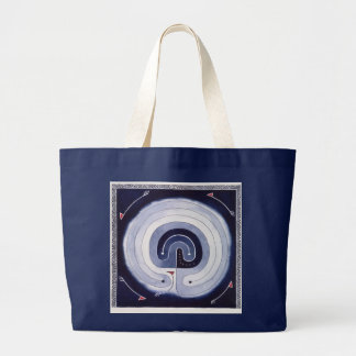 Painted Maze Large Tote Bag