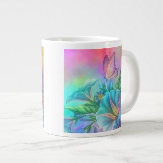 Painted Morning Glories Large Coffee Mug