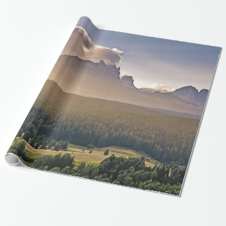 Painted Mountain Wrapping Paper