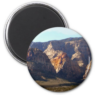 Painted Mountains 2 Inch Round Magnet
