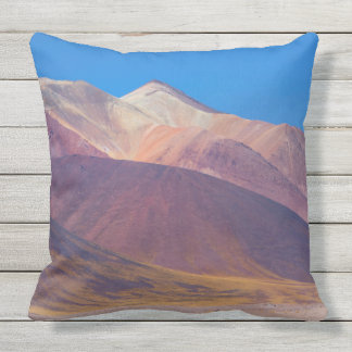 Painted Mountains. Outdoor Pillow
