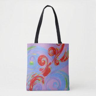 Painted Music Tote Bag