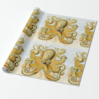 Painted Nautical Octopus Kraken Squid Father's Day Wrapping Paper