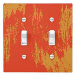 Painted - Orange Grunge Design - Light Switch