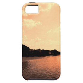 Painted Orange Silhouette Sunset iPhone 5 Covers