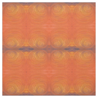 Painted Orange Swirl Fabric
