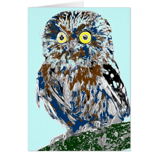 Painted owl card
