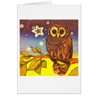 Painted owl Owl you need is love Card