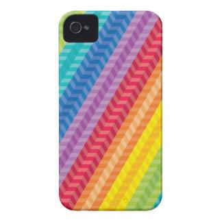 Painted Palette Rainbow Herringbone Pattern iPhone 4 Cover