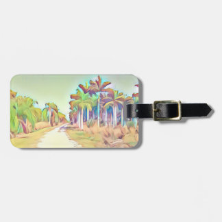 Painted Palm Road Luggage Tag