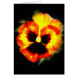 Painted Pansy Card