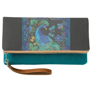 Painted Peacock Clutch