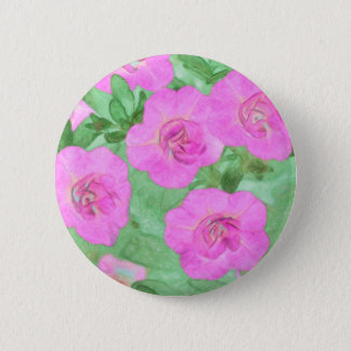 Painted Petunias 2 Inch Round Button