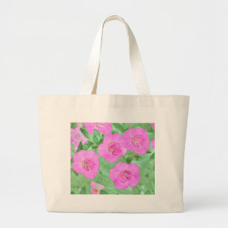 Painted Petunias Large Tote Bag