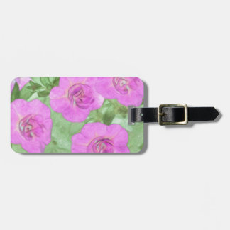 Painted Petunias Luggage Tag