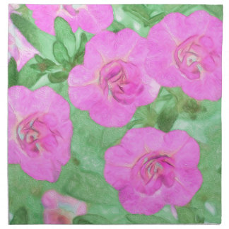 Painted Petunias Napkin