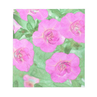 Painted Petunias Notepad