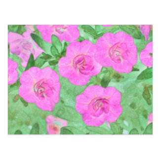 Painted Petunias Postcard