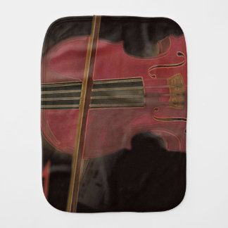 Painted Pink Violin Burp Cloth