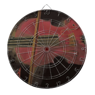 Painted Pink Violin Dartboard