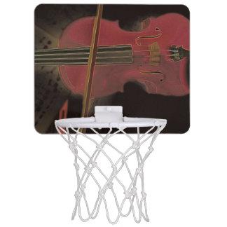 Painted Pink Violin Mini Basketball Hoop