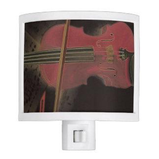 Painted Pink Violin Night Light