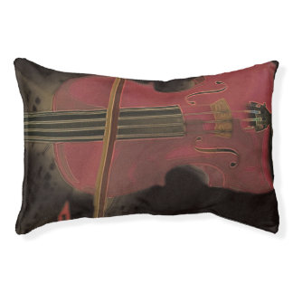 Painted Pink Violin Pet Bed