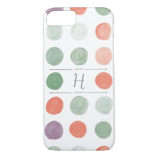 Painted Polka Dots iPhone Case