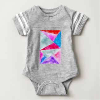 Painted Polygonal Background2 Baby Bodysuit