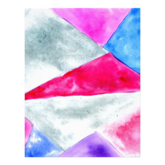 Painted Polygonal Background2 Letterhead