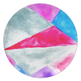 Painted Polygonal Background2 Plate