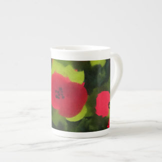 Painted Poppies | Artful Floral Tea Cup