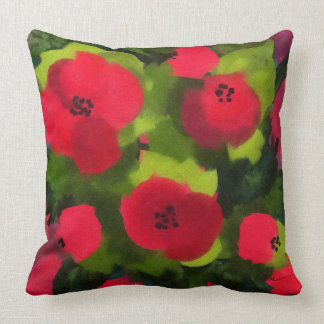 Painted Poppies | Beautiful Floral Art Throw Pillow