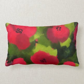 Painted Poppies | Beautiful Flowers Lumbar Pillow
