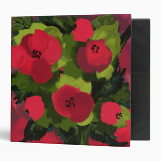Painted Poppies Binder