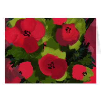 Painted Poppies | Flora Art Card