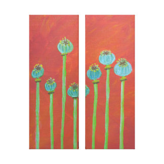 Painted Poppy Seeds Canvas Print