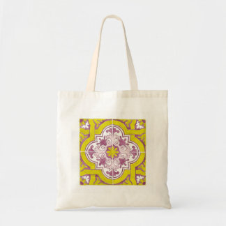 Painted Portuguese Tile Patterned Tote Bag