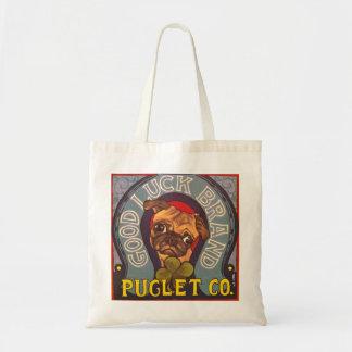 Painted Pug Tote Budget Tote Bag