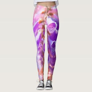Painted Purple Bellflower Leggings