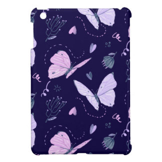 Painted purple Butterflies on night background  pa iPad Mini Case