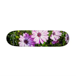 Painted Purple Flowers Skate Decks