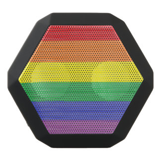 Painted Rainbow Flag Black Bluetooth Speaker