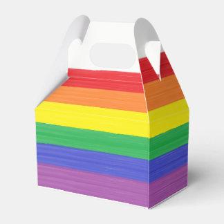 Painted Rainbow Flag Favor Box