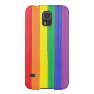 Painted Rainbow Flag Galaxy S5 Case
