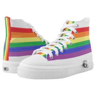 Painted Rainbow Flag High Tops